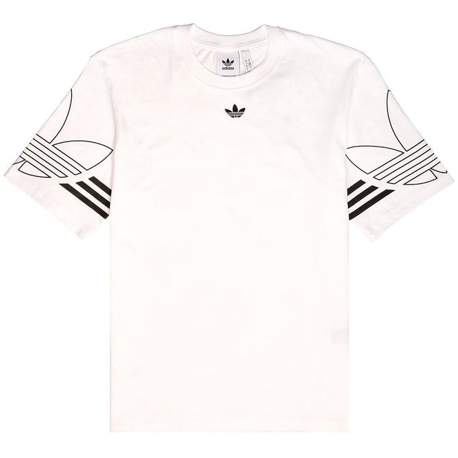 Adidas DU8536 Outline Trefoil T-Shirt in White