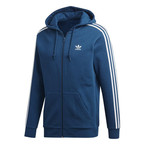 adidas DV1556 3 Stripes FZ Track Top in Legend Marine Coats & Jackets adidas