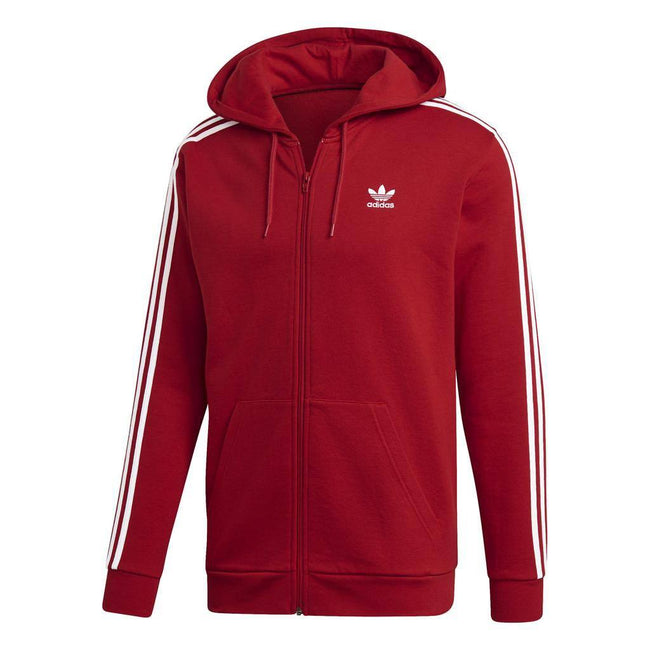 adidas DV1635 3- Stripes Hoodie in Power Red Hoodies adidas