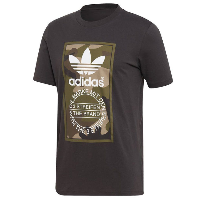 Adidas DV2060 Camouflage Tongue Label Tee in Utility Black T-Shirts adidas