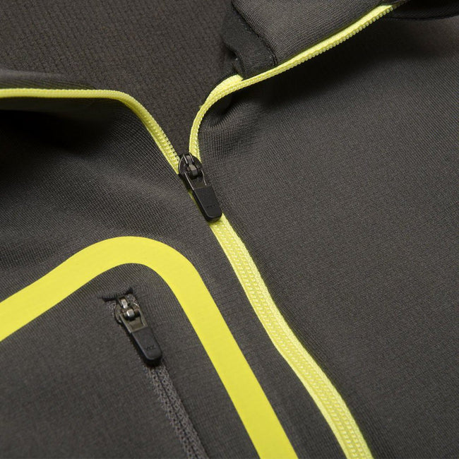 Galvin Green Diego Half Zip Insula Pullover in Beluga Grey / Lemonade