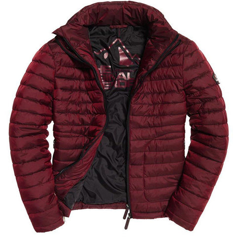 Superdry Double Zip Fuji Jacket in Dark Red Coats & Jackets Superdry