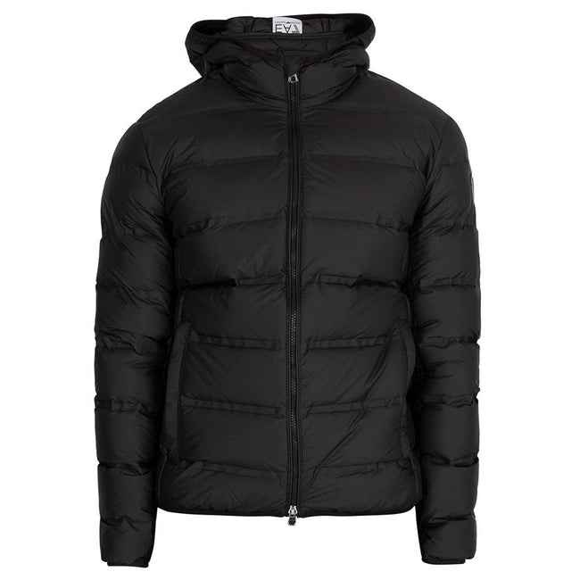 EA7 Hooded Down Jacket in Black Coats & Jackets Emporio Armani EA7