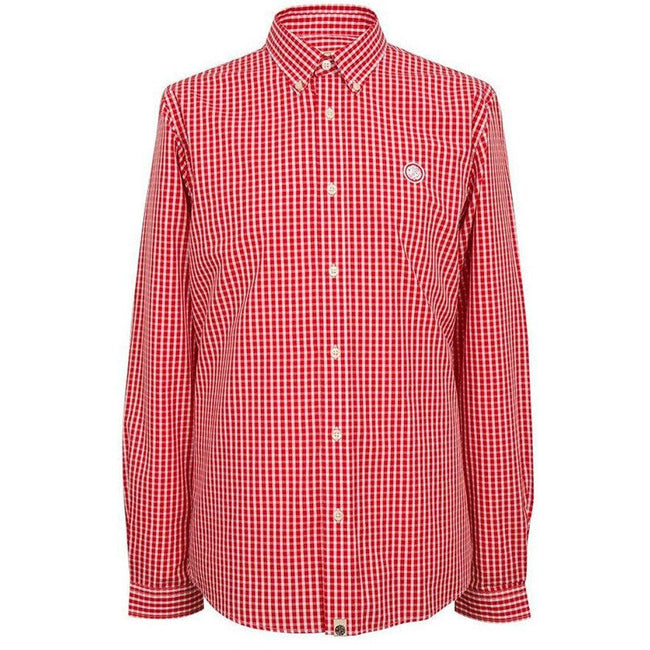 Pretty Green Ebsworth Gingham Red Check Shirt