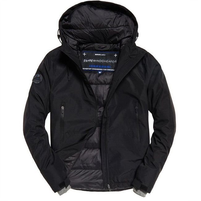 Superdry Padded Elite Windcheater in Black