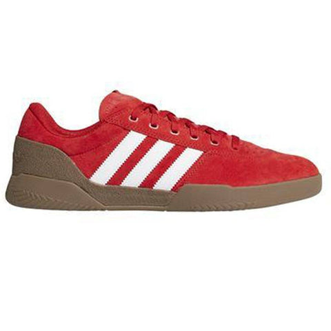F36855 City Cup Trainers in Scarlet/ FTWWhite/ Gum Trainers adidas