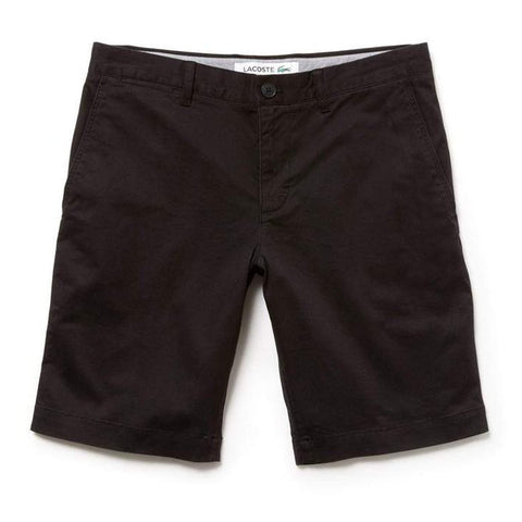 FH9542-031 Slim Fit Gabardine Bermuda Shorts in Black Shorts Lacoste