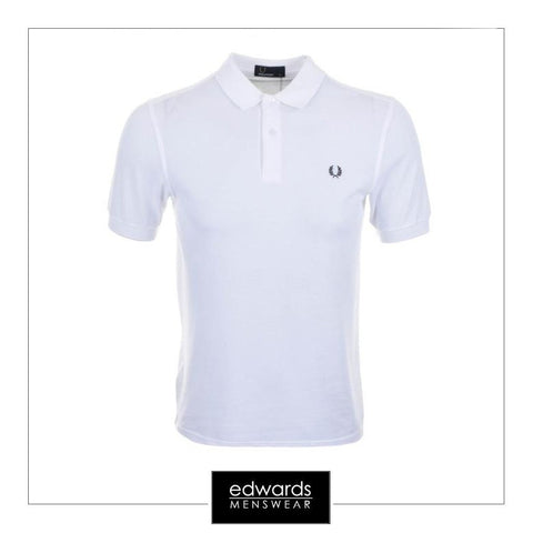 Fred Perry Polo Shirt in White
