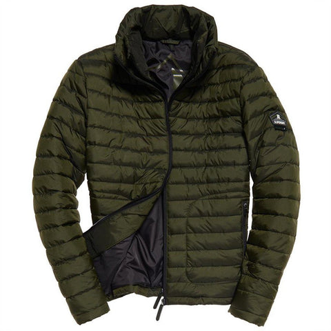 Superdry Fuji Double Zip Jacket in Olive Coats & Jackets Superdry