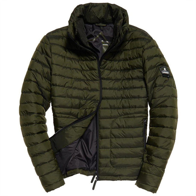 Superdry Fuji Double Zip Jacket in Olive