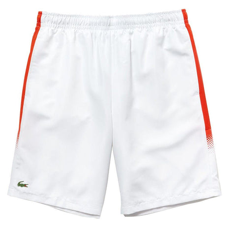 GH3572-URK Technical Side Stripe Shorts in White / Red Shorts Lacoste Sport