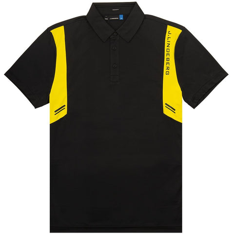 Aaron Regular Fit TX Jersey in Black Polo Shirts J. Lindeberg
