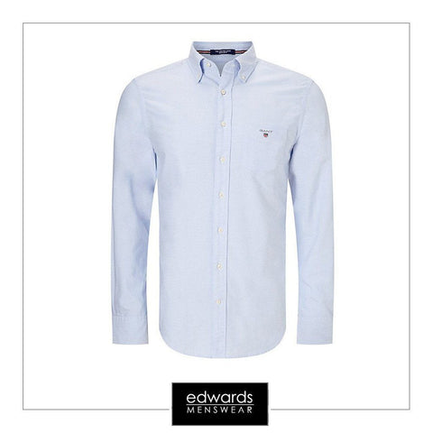 Gant ''The Oxford'' Shirt in Capri Blue