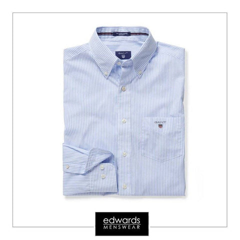 Gant Poplin Banker Shirt in Hamptons Blue