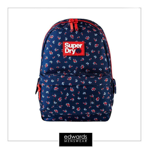 Girls Superdry Helena Floral Montana in Navy/Red Ditsy
