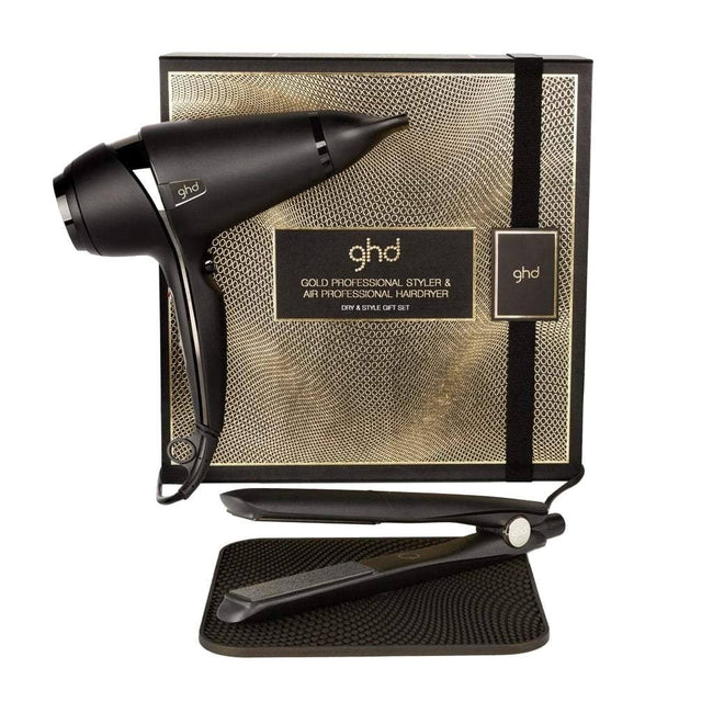 GHD 'Dry & Style' Gold Styler and Air Hairdryer Gift Set