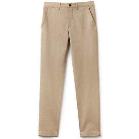 Lacoste HH4601-VDW Slim Fit Chino's in Kraft Beige Trousers Lacoste