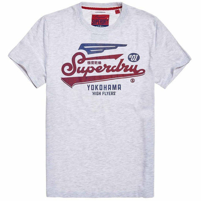 Superdry High Flyers Duo Tee in Ice Marl T-Shirts Superdry