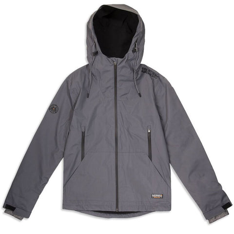 Superdry Hooded Elite Windcheater in Dark Charcoal Coats & Jackets Superdry