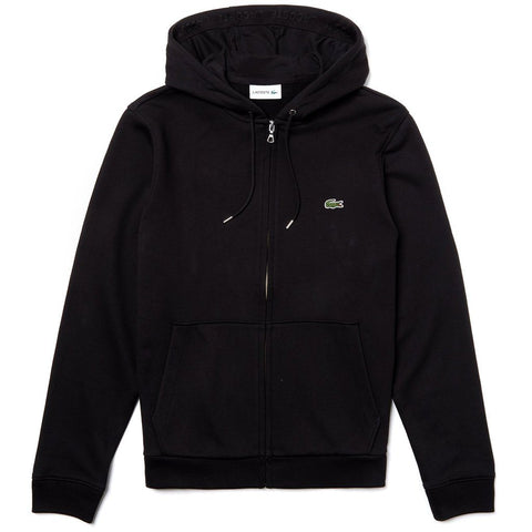 Lacoste SH4286-031 Full Zip Hooded Sweatshirt in Black Hoodies Lacoste