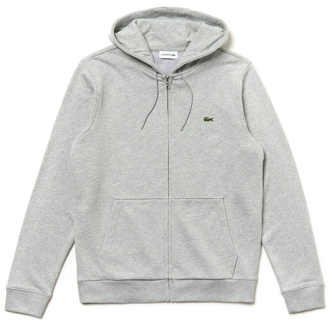 Lacoste SH4286-CCA Full Zip Hooded Sweatshirt in Grey