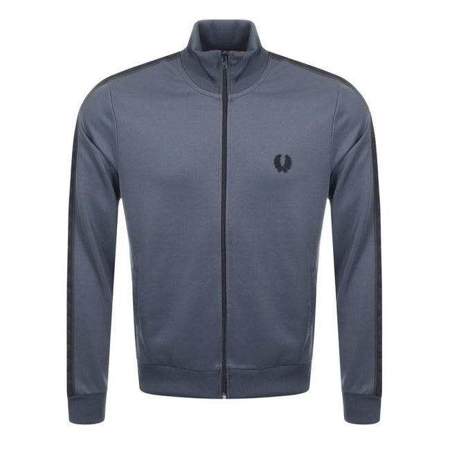 Fred Perry J3524 Tonal Taped Track Jacket in Lead Grey