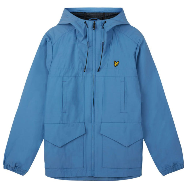 Lyle & Scott Funnel Neck Shell Jacket in Cornflower Blue