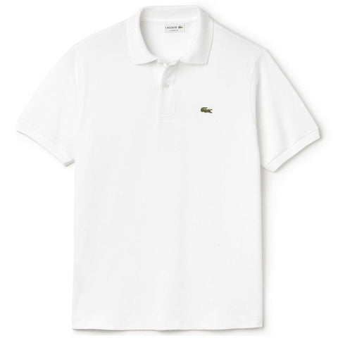 Lacoste L1212-001 Classic Fit Polo in White Polo Shirts Lacoste