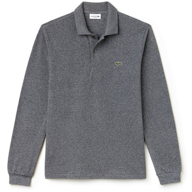 Lacoste L1313-SXY Long Sleeved Polo in Eclipse Chine