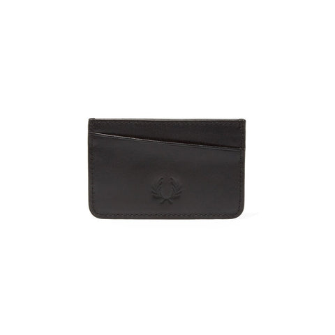 Fred Perry L4212 Leather Card Holder in Black Accessories Fred Perry