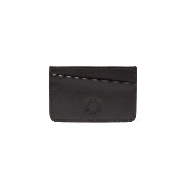Fred Perry L4212 Leather Card Holder in Black
