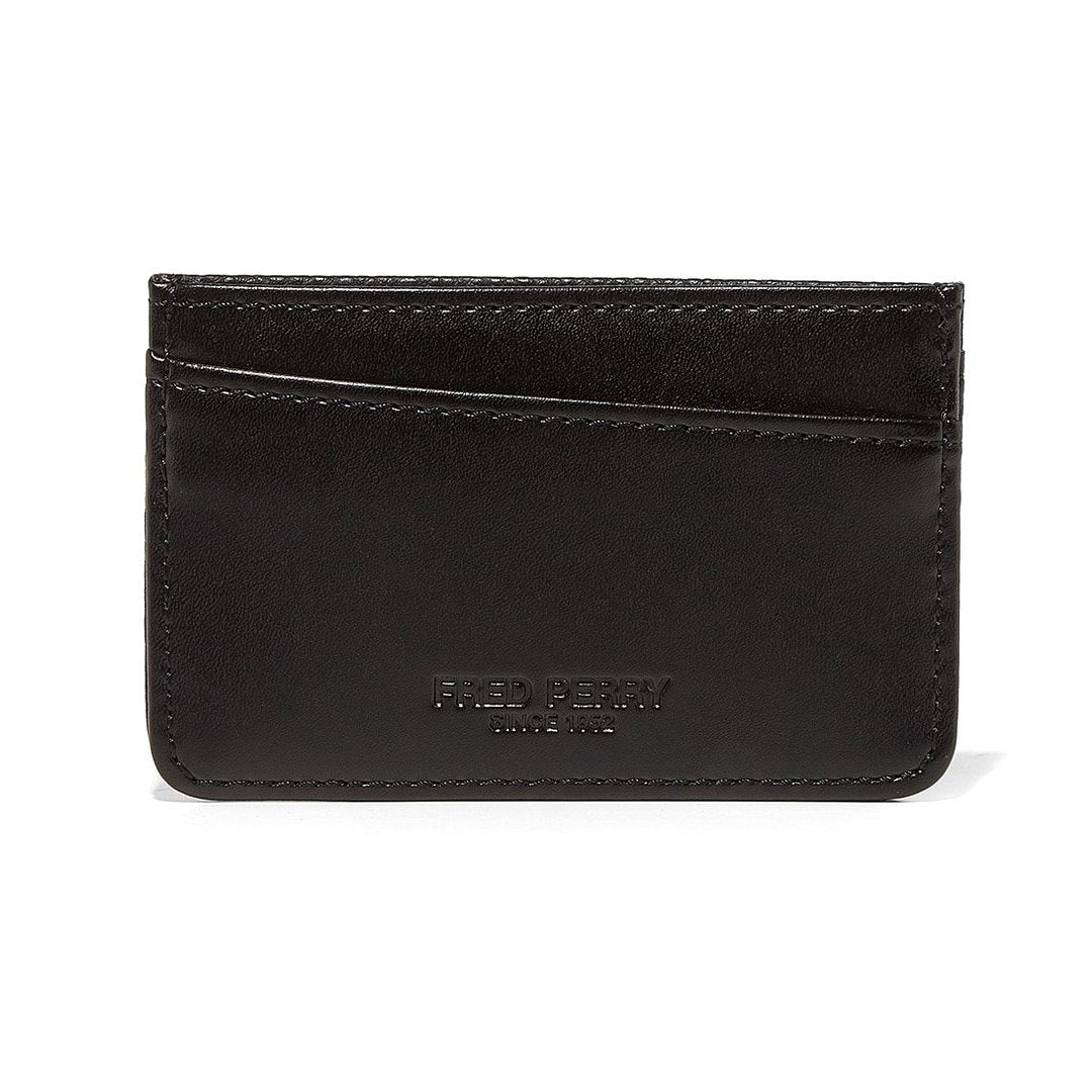 Fred Perry L5268 Tumbled Card Holder in Black