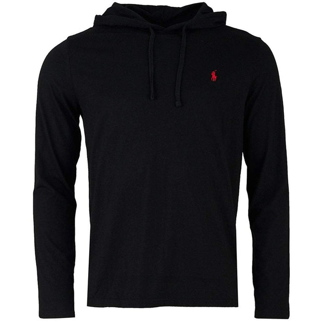 Ralph Lauren Long Sleeved Hooded Tee in Black