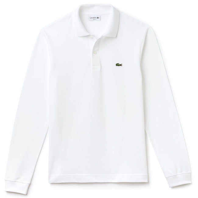 Lacoste Long Sleeve Polo Shirt L1312-001 in White