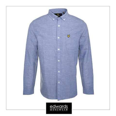 Lyle & Scott Linen Shirt in Storm Blue