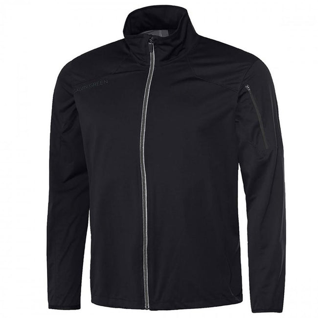 Galvin Green Lance Interface-1 Golf Jacket in Black / Iron Grey