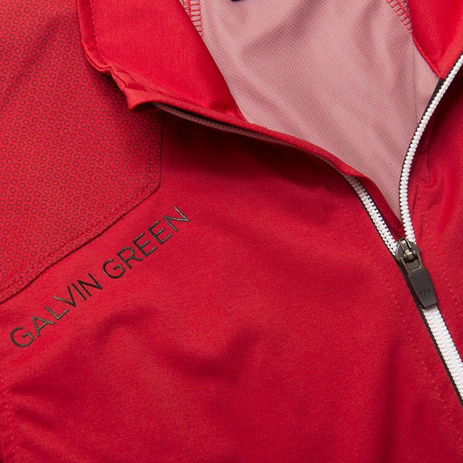 Galvin Green Lance Interface-1 Jacket in Red / Snow / Black