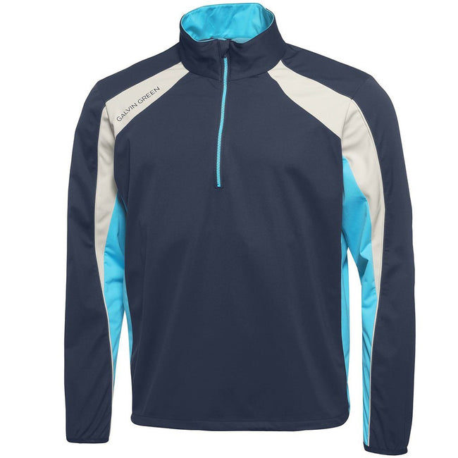 Galvin Green Lennox Interface-1 Half Zip Windstopper in Navy / River Blue / Snow
