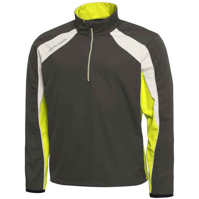 Galvin Green Lennox Interface-1 Half Zip Windstopper in Beluga / Lemonade / Snow