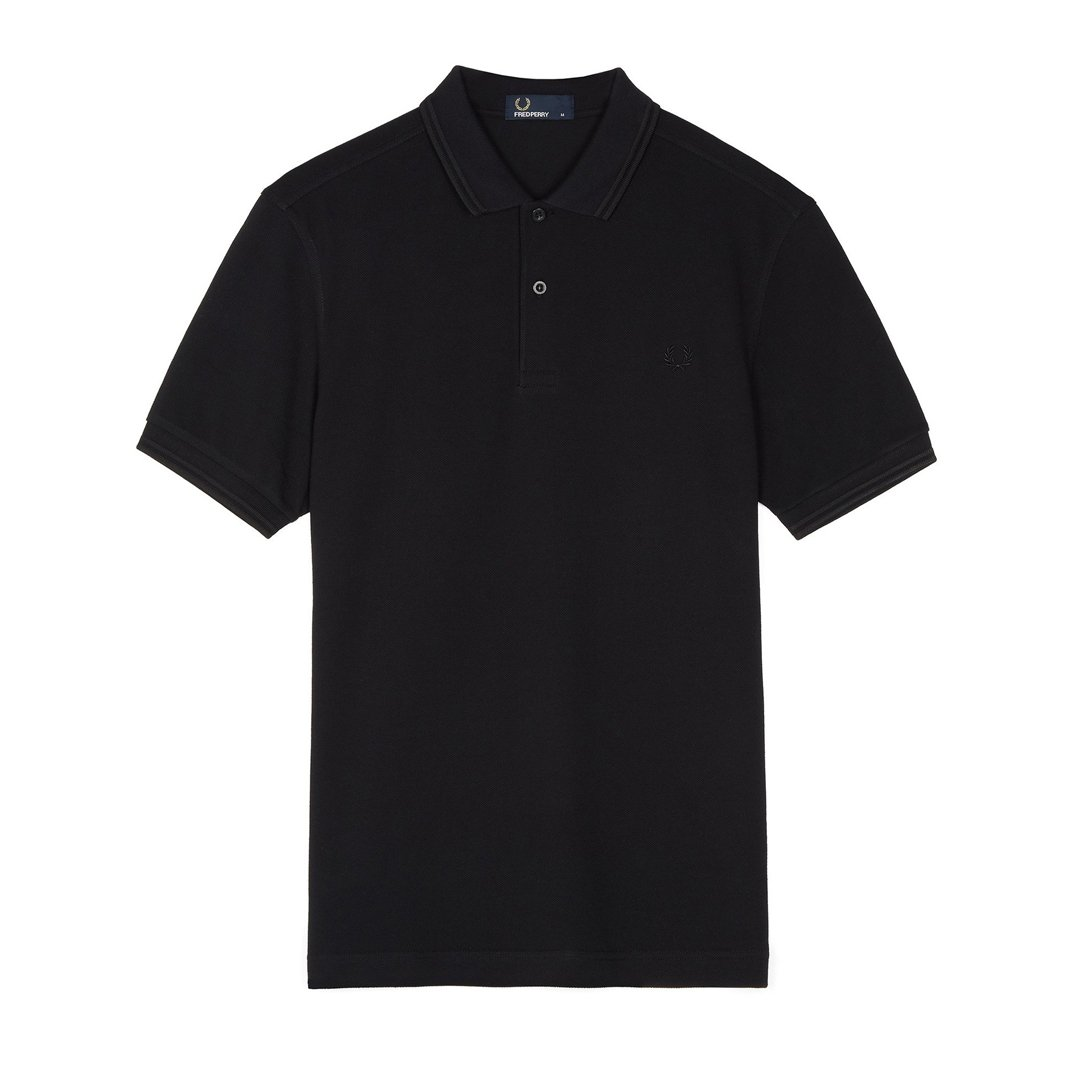 Fred Perry M3600 Twin Tipped Polo in Black / Black