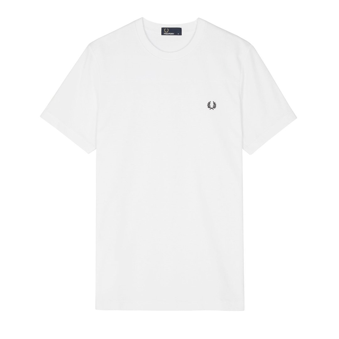 Fred Perry M4548 Tonal Panel Tee in White