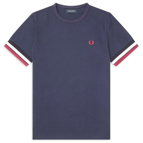 M7539 Bold Tipped T-Shirt in Carbon Blue T-Shirts Fred Perry