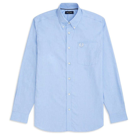 M7550 Oxford Shirt in Light Smoke Blue Shirts Fred Perry