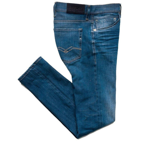 Replay Hyperflex Skinny Fit Jondrill Jeans in Medium Blue