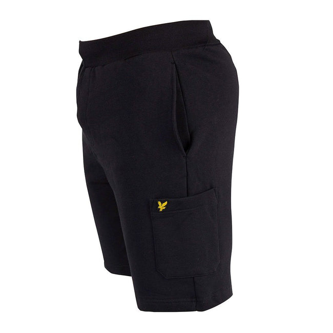 Lyle & Scott Casuals Pocket Sweat Shorts in True Black