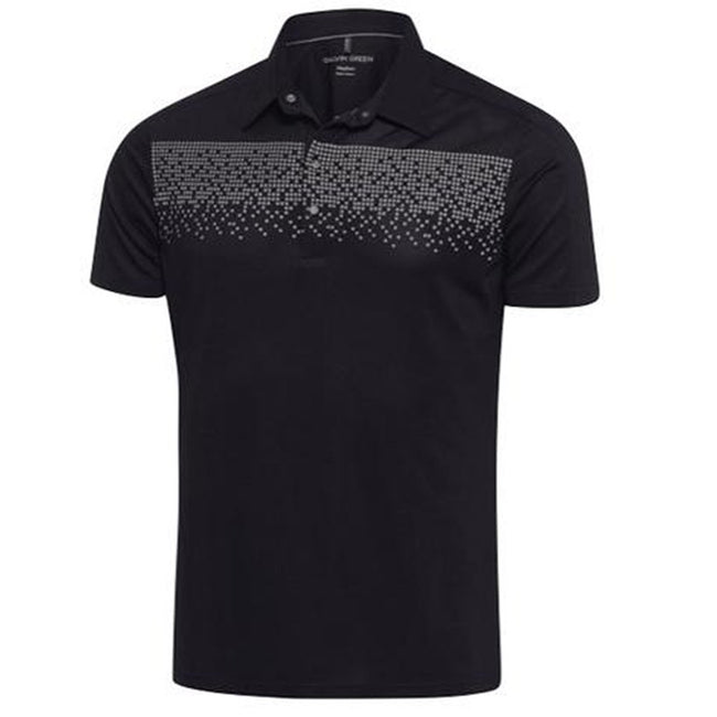 Galvin Green Marcel Ventil8+ Polo Shirt in Black / Iron Grey Polo Shirts Galvin Green