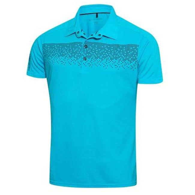Galvin Green Marcel Ventil8+ Polo Shirt in River Blue Polo Shirts Galvin Green