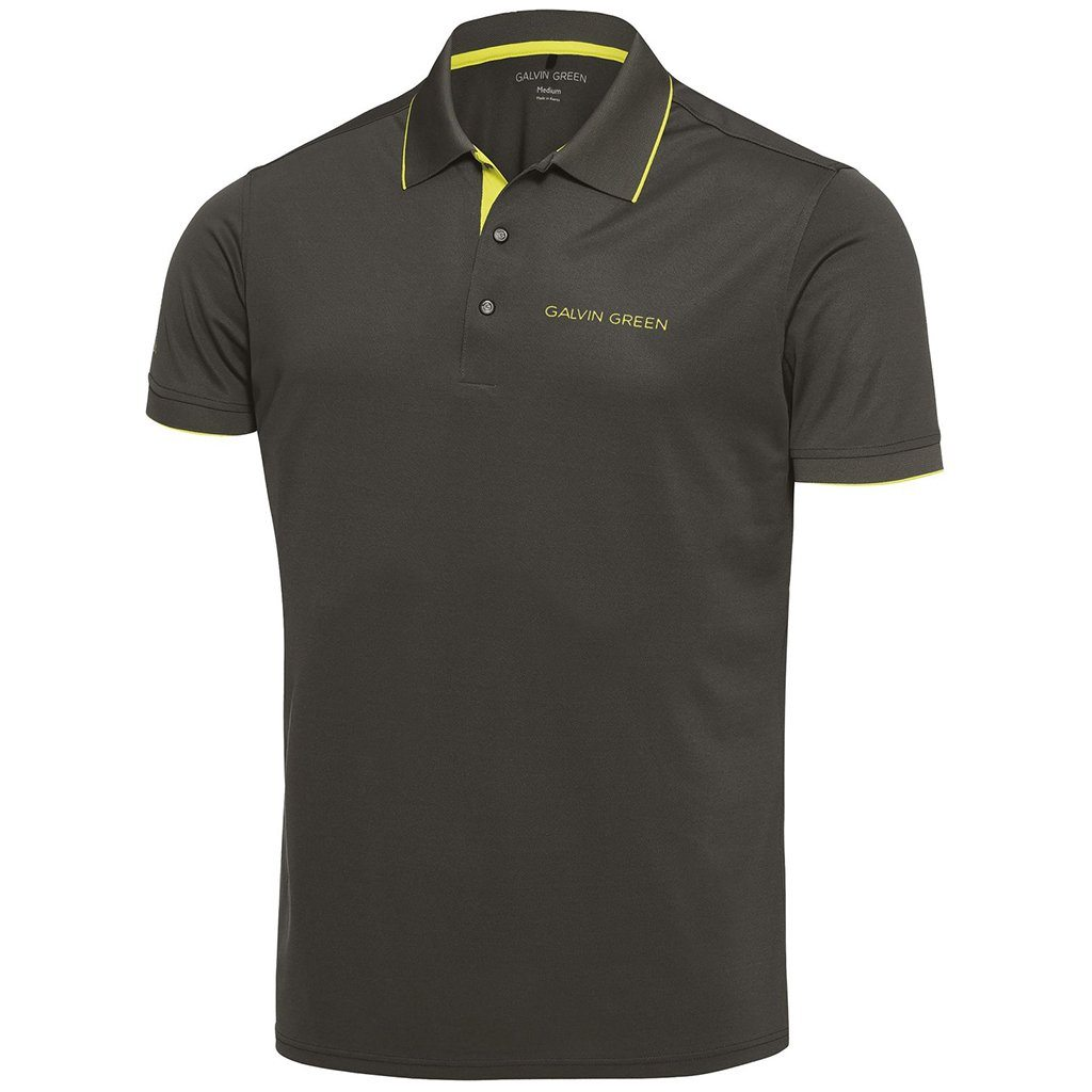 Galvin Green Marty Tour V8+ Polo Shirt in Beluga / Lemonade