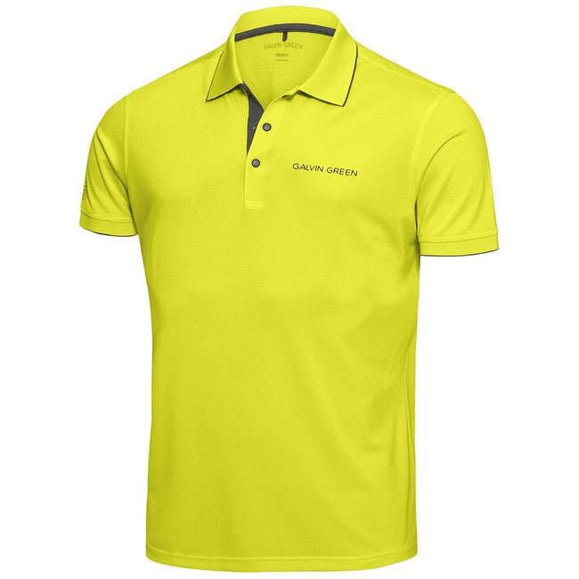 Galvin Green Marty Tour V8+ Polo Shirt in Lemonade / Beluga