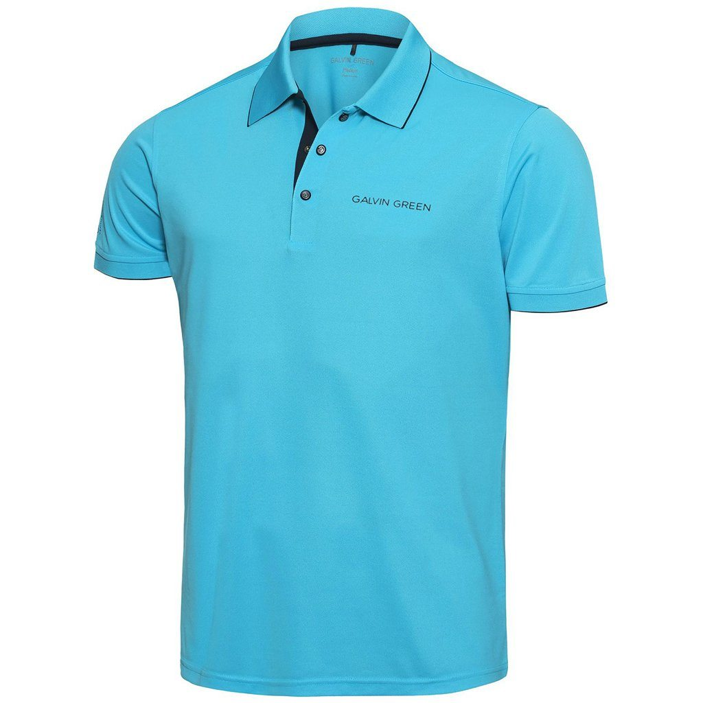 Galvin Green Marty Tour V8+ Polo Shirt in River Blue / Navy